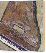 Piano In Bronze Wood Print