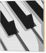 Piano Keyboard Wood Print