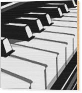 Piano Keyboard No2 Wood Print
