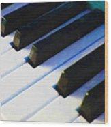 Piano Keys . V2 . Blue Wood Print
