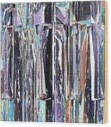 Piano Keys Abstract Wood Print