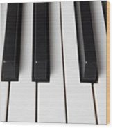 Piano Keys Close Up Wood Print