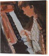 Piano Lesson Wood Print