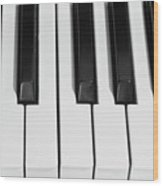 Piano Octave  Bw Wood Print