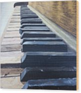 Piano Perspective Wood Print
