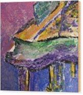 Piano Purple - Cropped Wood Print