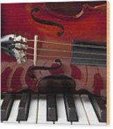 Piano Reflections Wood Print