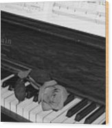 Piano Rose Wood Print