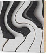 Piano Surrealism  Wood Print