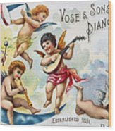 Piano Trade Card, C1880 Wood Print