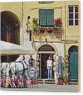 Piazza Anfiteatro Wood Print