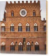 Piazza Del Campo Tuscany Italy Wood Print