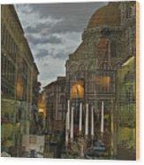 Piazza Del Duomo Wood Print