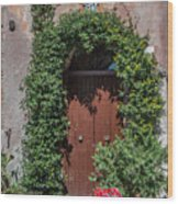 Piazza Della Rocca Wood Print