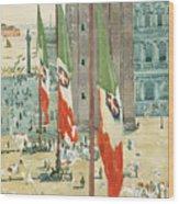 Piazza Di San Marco Wood Print