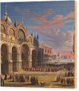 Piazza Di San Marco. Venice Wood Print