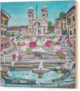 Piazza Di Spagna Wood Print