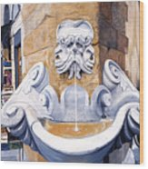 Piazza Frescobaldi Wood Print