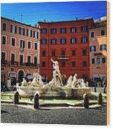 Piazza Navona 4 Wood Print