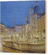Piazza Navona, Rome Wood Print