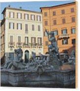 Piazza Navona Rome Wood Print