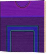 Piazza Purple Wood Print