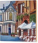 Piazza Romana Wood Print