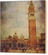 Piazza San Marco - Venice Wood Print