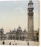 Piazza San Marco, 1890s Wood Print