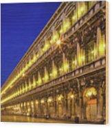 Piazza San Marco By Night Wood Print