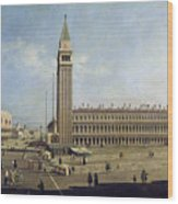 Piazza San Marco Venice  Wood Print by Canaletto