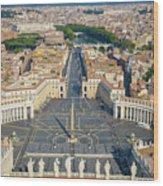 Piazza San Pietro Wood Print