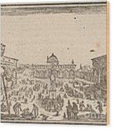 Piazza Ss. Annunziata, Florence Wood Print