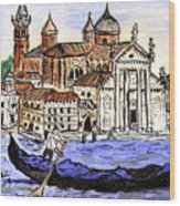 Piazzo San Marco Venice Italy Wood Print