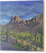Picacho Peak Wood Print