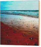 Picasso Beach Wood Print