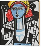 Picasso By Nora  Film Star Wood Print