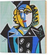 Picasso By Nora  The Queen Wood Print