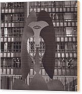 Picasso Chicago Bw Wood Print