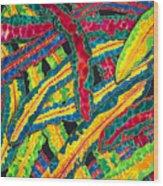 Picasso Paintbrush Croton Wood Print