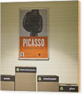Picasso Poster Wood Print