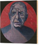 Picasso The Artist Icon Wood Print