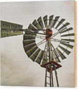 Piceance Basin Windmill Wood Print