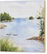 Pickering Cove Wood Print