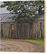 Pickers Huts Wood Print