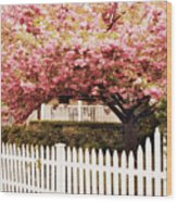 Picket Fence Charm Wood Print