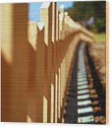 Picket Fence Wood Print