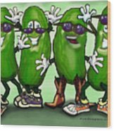 Pickle Party Wood Print