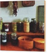 Pickles Beans And Jellies Wood Print by Susan Savad