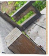 Picnic Bench Wood Print
